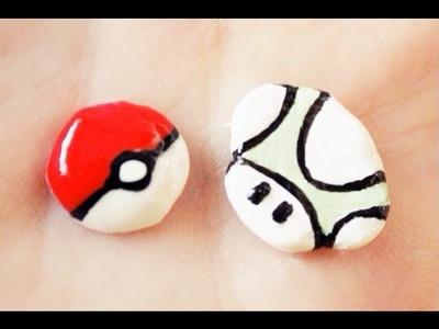 Pokéball y Seta de Super Mario en Miniatura (Porcelana Fría)