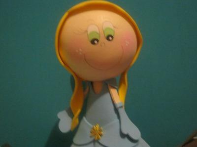 Princesas Disney Fofuchas Cenicienta Artfoamicol Muñecas 3d Foamy Goma eva Patrones Y Moldes