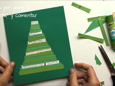 Tarjetas navideñas fáciles para niños hechas a mano