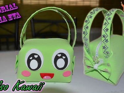 ♥ Tutorial: Bolso en 3D Kawaii de Goma Eva (Foamy) ♥