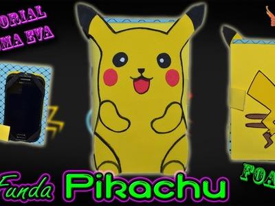 ♥ Tutorial: Funda tipo Flip de Pikachu de Goma Eva (Foamy) ♥