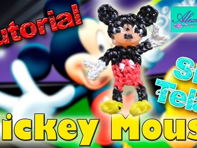 ♥ Tutorial: Mickey Mouse de gomitas (sin telar) ♥