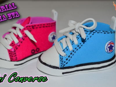♥ Tutorial: Mini Converse de Goma Eva (Foamy) ♥