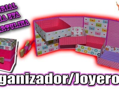 ♥ Tutorial: Organizador.Joyero en 3D Goma Eva (Foamy) ♥