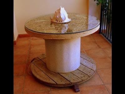AQL COMO HACER mesa con bobina de cable