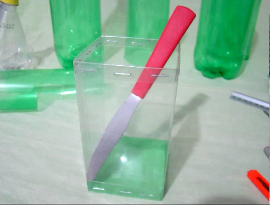 - Caja cuadrada hecha con botellas de PET - vídeo resumido  - Trabajos manuales - Manualidades