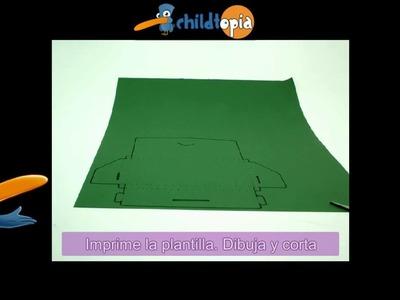 Carpeta. Manualidades infantiles, manualidades con cartón