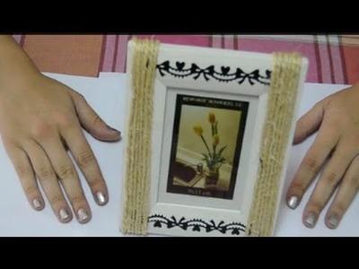 Cómo adornar un marco de fotos con cuerda | facilisimo.com