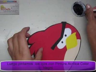 COMO HACER ANGRY BIRD EN FOAMY CON MOLDES GRATIS PARA DESCARGAR