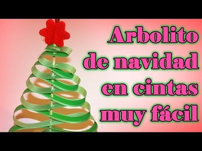 COMO HACER ARBOLITO NAVIDEÑO DE CINTAS DE PAPEL MUY FÁCIL - CHRTISTMAS TREE PAPER