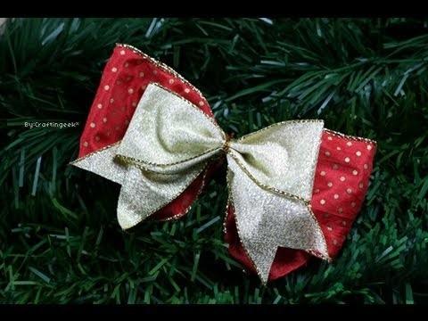 Como hacer Moño Sencillo - Lazos - Decoración Navidad