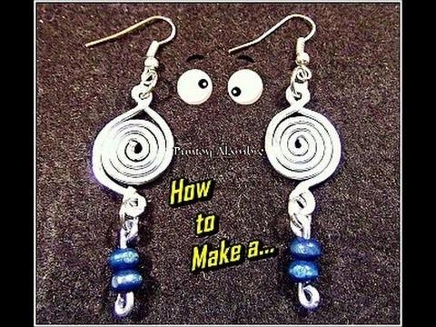 "Como Hacer ""Pendientes en alambre(3)"".How to Make a ""Wire Pendant (3)"". By Puntoy Alambre"
