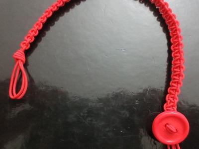 Cómo hacer pulsera en macramé de nudo cuadrado o plano (How to make macrame bracelet)