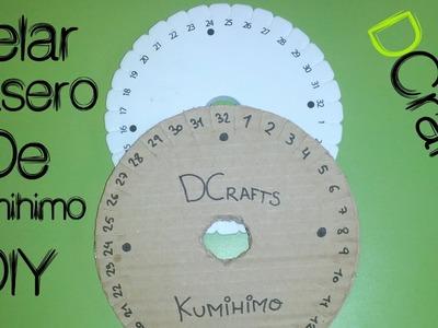 COMO HACER TELAR CASERO DE CARTON PARA KUMIHIMO VIDEOTUTORIAL MANUALIDADES DIY