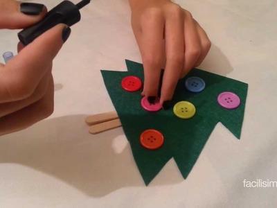 Cómo hacer un árbol de Navidad con fieltro  | facilisimo.com