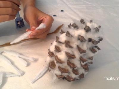 Cómo hacer un búho con una piña | facilisimo.com