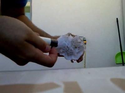 Como hacer un clavel con servilletas de bar. polu