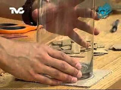 Cómo hacer un Florero de Cartón (EC)