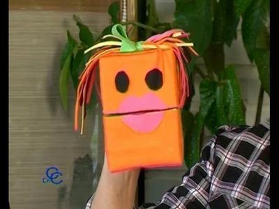 Como hacer un títere, muñeco de guiñol o puppet para los niños, manualidad