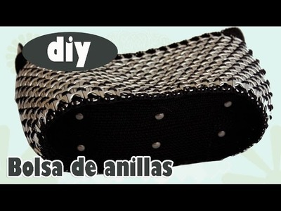 Como hacer una bolsa con anillas de lata: Bolsa Interesante Parte 3