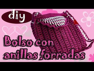 Como hacer una bolsa con fichas de aluminio: Bolso Fernanda parte 1