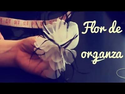 Como Hacer Una Flor De Organza
