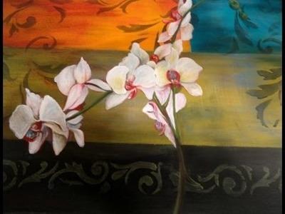 Como pintar con acrílicos - Caja rinconera estilo étnico latino