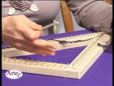 Cómo tejer un chal con un bastidor triangular