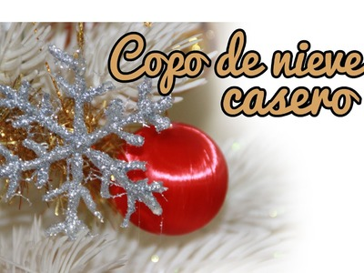 Copo de nieve casero, adornos navideños - Manualidades de navidad (Manualidades Fáciles)