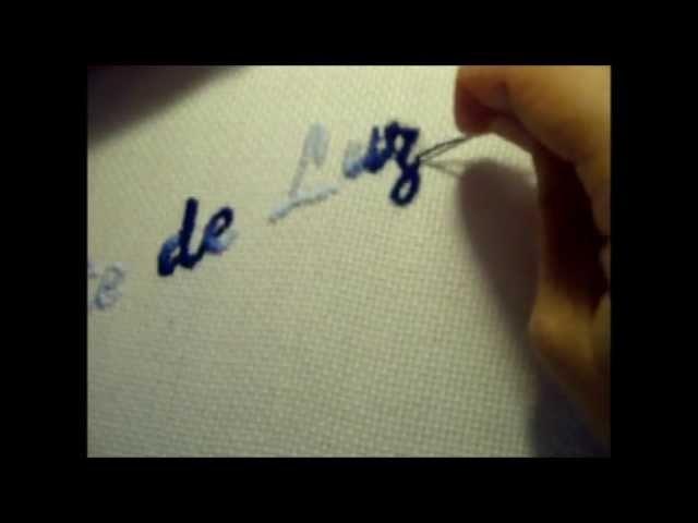 Curso de bordado básico 17: Letras con bordado clásico sencillo