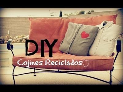 DIY: Cojines reciclados, decora tu casa ♡ popcherri