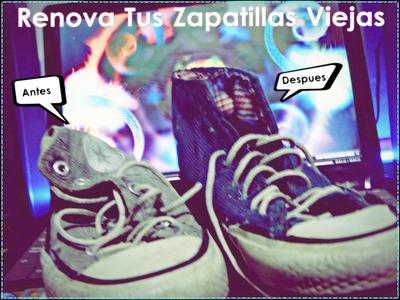 DIY Renova Tus Zapatillas Viejas Para Navidad - Yani Brilz