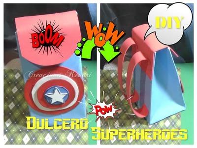 Dulcero o Bolsita en forma de mochila SuperHeroes. DIY Superhero Candy Bag