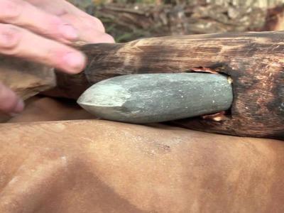 Elaboración de hacha pulimentada neolítica
