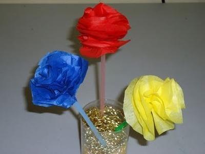 Episodio #571- Cómo hacer flores de colores con papel de china seda