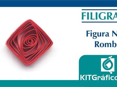 Filigrana (Quilling) figura básica No.8 - Rombo - kitgrafico.com