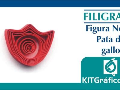 Filigrana (Quilling) figura básica No.16 - Pata de gallo- kitgrafico.com