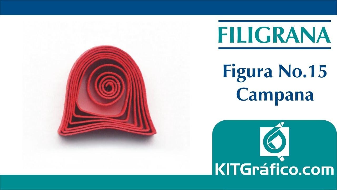 Filigrana (Quilling) figura básica No.15 - Campana - kitgrafico.com