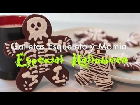 Galletas de Esqueleto y Momia - Recetas para Halloween