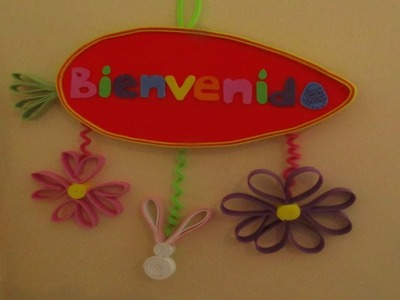 "Letrero de ""Bienvenida"" primaveral.pascua))(( DIY Easter Welcome Sign"