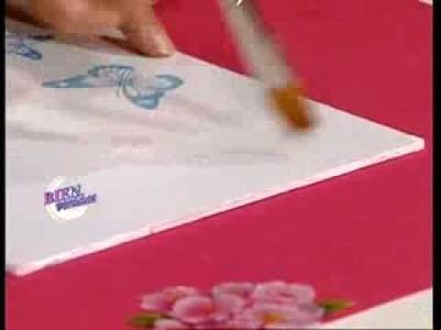 Mirta Biscardi - Bienvenidas TV - Realiza en decoupage un mueble para perfumes