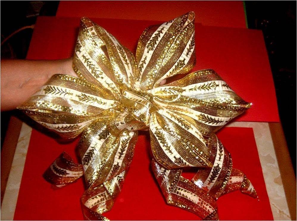 Moño flor seis pétalos  para decoración Navideña