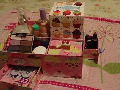 Organizador de cosmeticos: Cup Cake