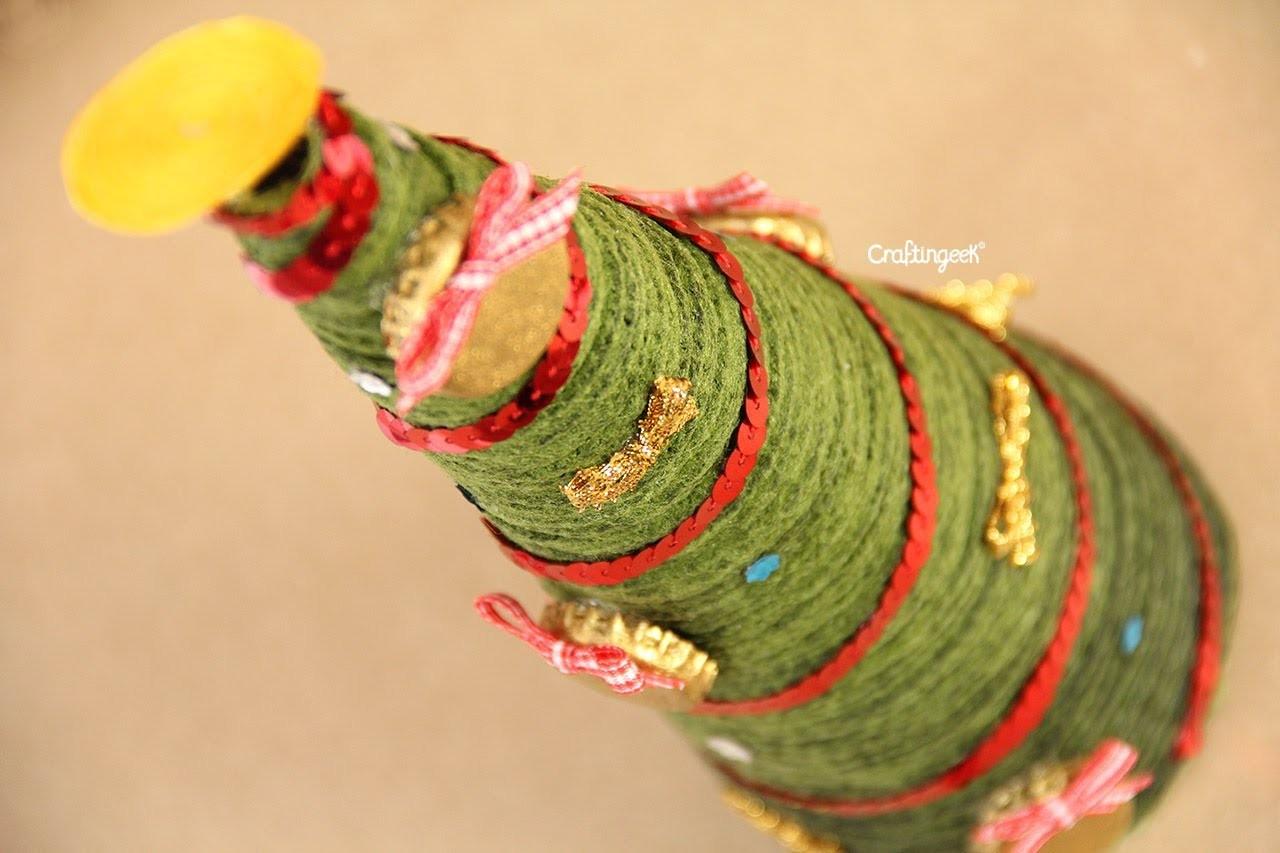Pinito de hilo. Manualidad de Navidad