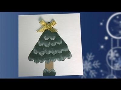 Postal de un árbol de Navidad. Haz tus propias felicitaciones