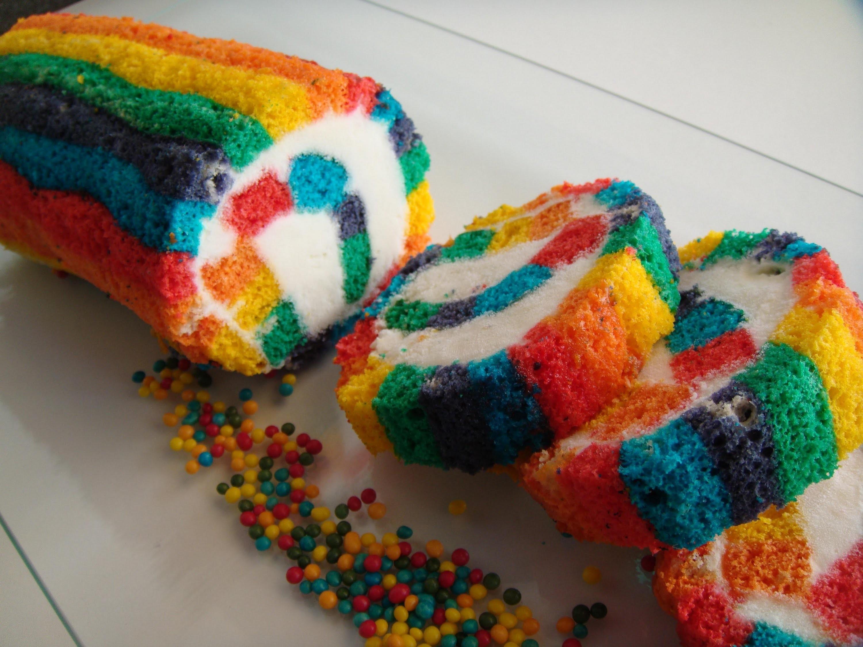 RAINBOW ROLL CAKE  # 154 #