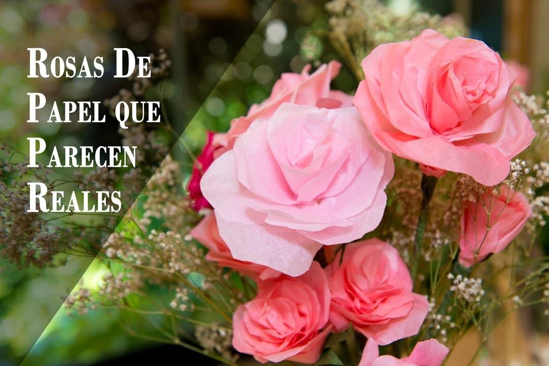 Rosas de Papel que Parecen Reales Facilisimas