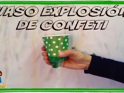 Vaso explosión de fiesta con confeti_Talleres multisensoriales