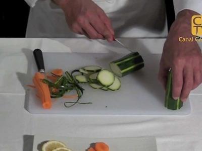 Acanalar frutas y verduras