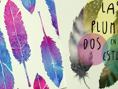 Acuarelas: como pintar PLUMAS en DOS estilos diferentes by ART Tv